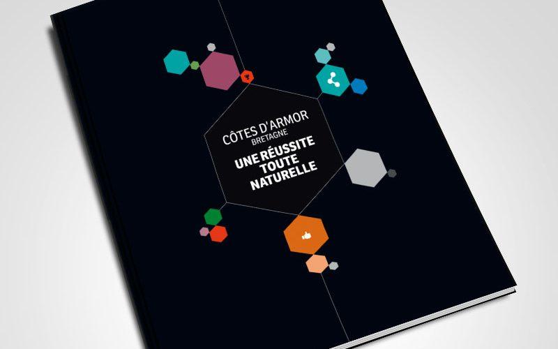 Conseil départemental des Côtes d'Armor Brochure économique — édition — mise en page