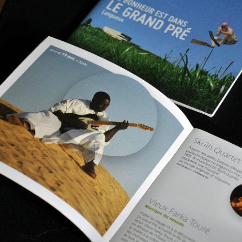 Le Grand Pré Programme de saison — édition — mise en page