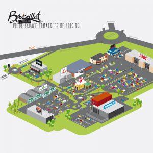 Espace commercial Brézillet Plan d'accès —illustration