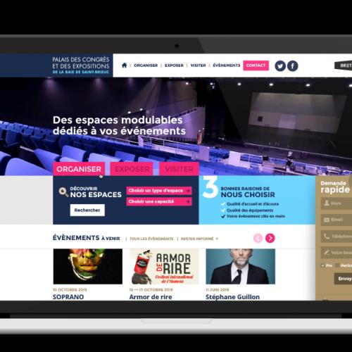 Saint-Brieuc Expo Congrès Site internet du Palais des congrès et des expositions — webdesign
