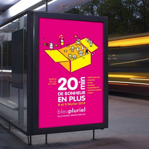 Bleu Pluriel Festival 20mn de bonheur en plus —édition — affiche