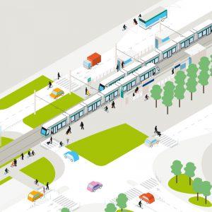 RATP Tramway Châtillon-Viroflay — Le code du tram en ville — illustration