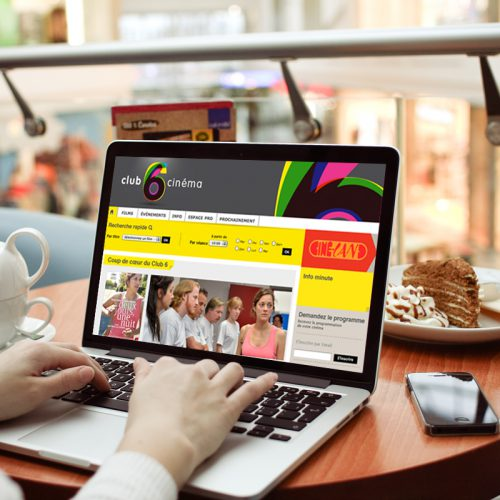 Cinéma Club6 Site internet — webdesign