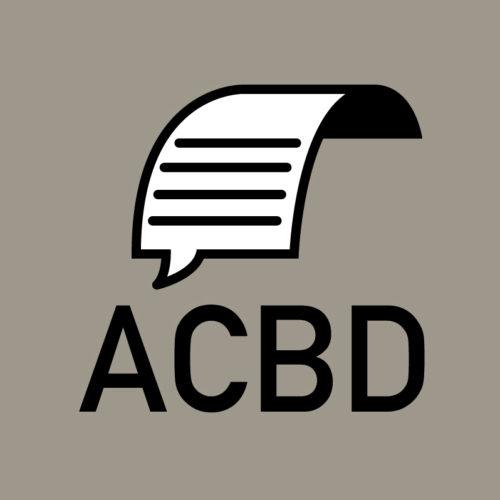 Association ACBD — journalistes et critiques de bande dessinée Identité visuelle — logotype
