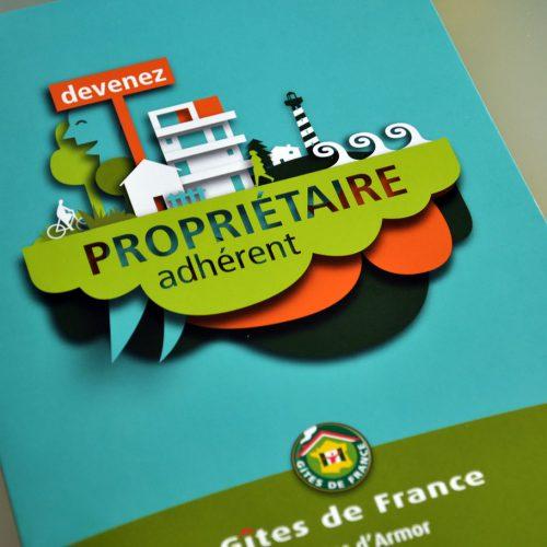 Gîtes de France Côtes d'Armor Édition —plaquette adhérent