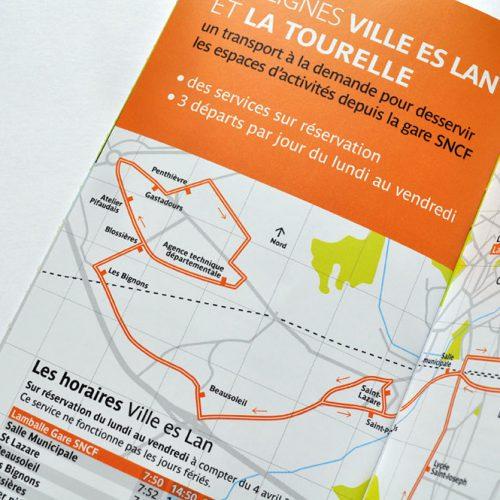 Lamballe Terre&Mer Distribus — guide horaire — édition — mise en page