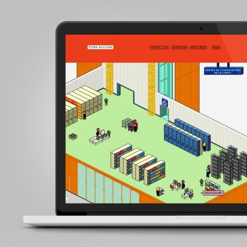 INA Intranet — jeu en ligne —graphisme