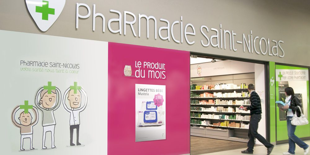 Pharmacie Saint-Nicolas Identité visuelle de l'officine — signalétique