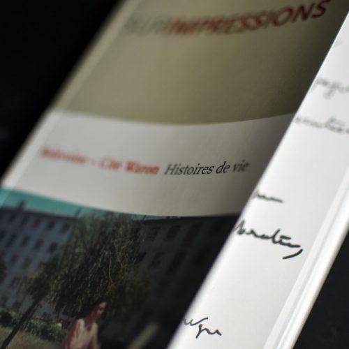 """Ville de Saint-Brieuc Livre """"Surimpressions, quartier Waron, histoires de vie"""" — édition — mise en page"""