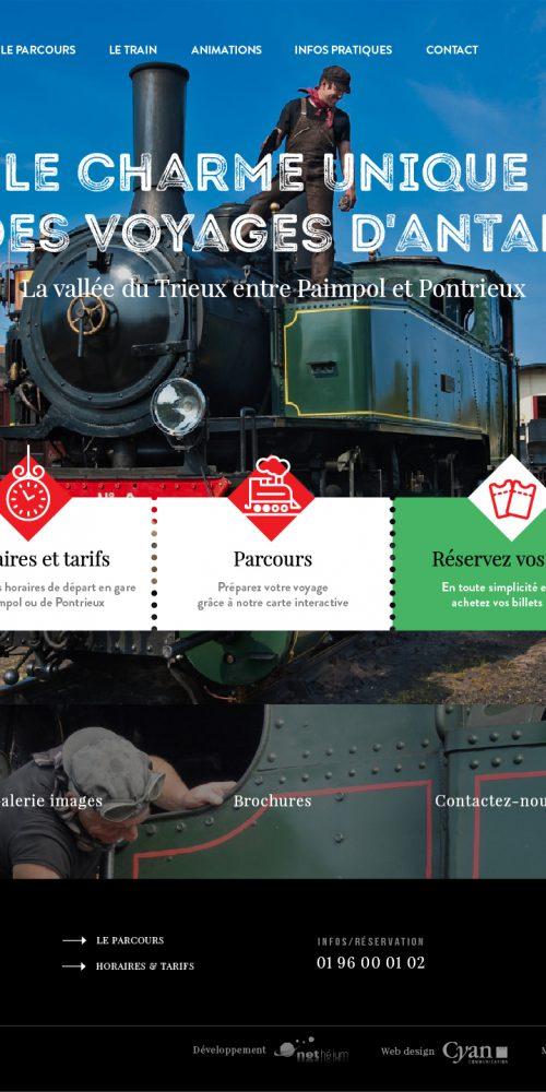 Site internet la Vapeur du Trieux — webdesign
