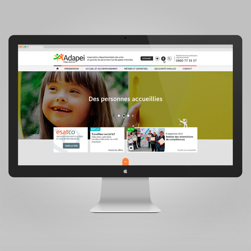 Adapei Les nouelles Site internet de l'association — webdesign