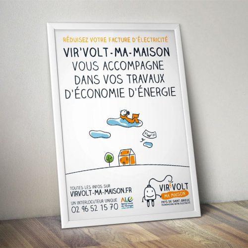 Virvolt-ma-maison — identité visuelle — affiche