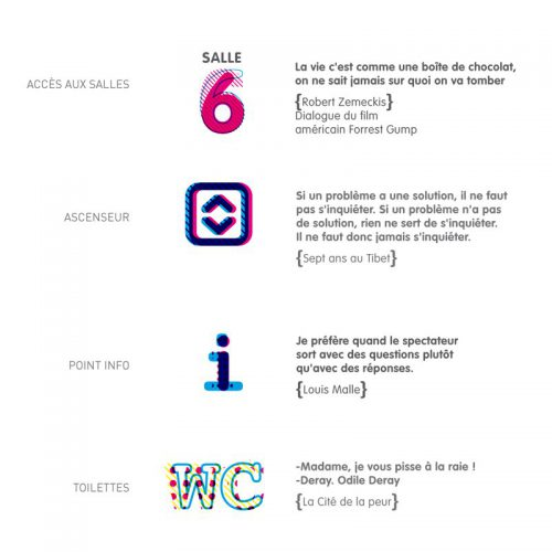 Cinéma Club6 Identité visuelle — signalétique