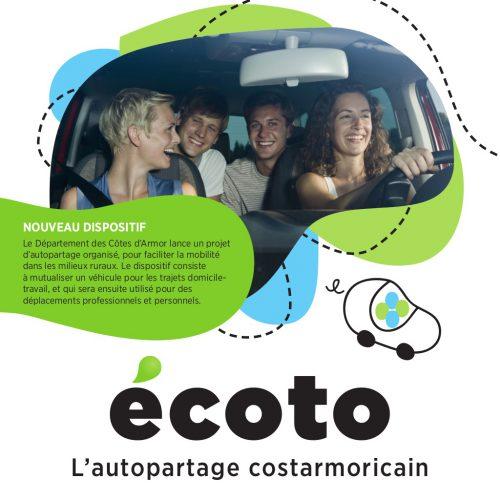 Conseil départemental des côtes d'armor écoto, l'autopartage costamoricain — identité visuelle