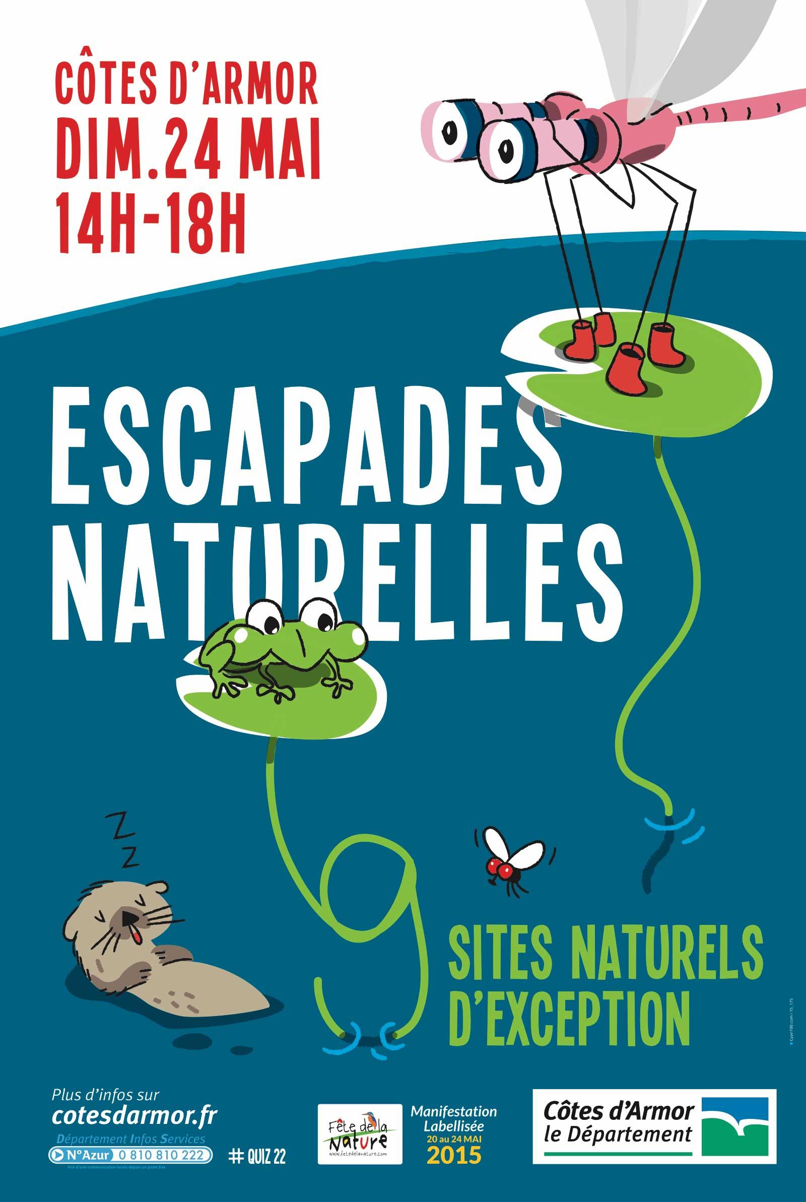 Conseil Départemental des Côtes d'armor Journée Escapades naturelles — affiche
