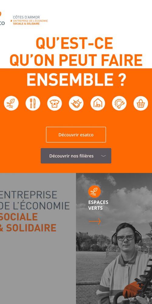 esatco Côtes d'Armor Site internet — webdesign
