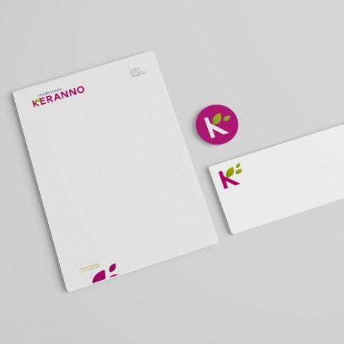 Résidence de Keranno Identité visuelle — papeterie