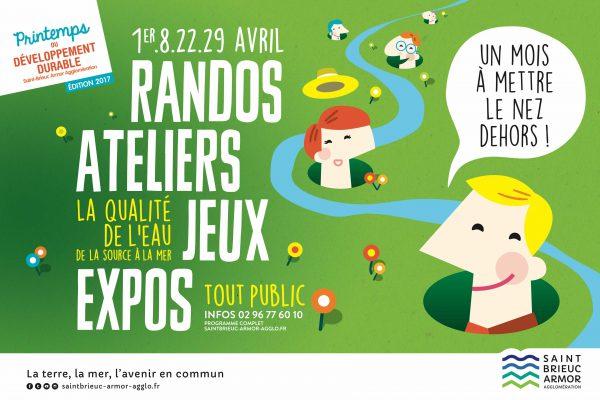 Saint Brieuc Agglomération Printemps du développement durable — affiche