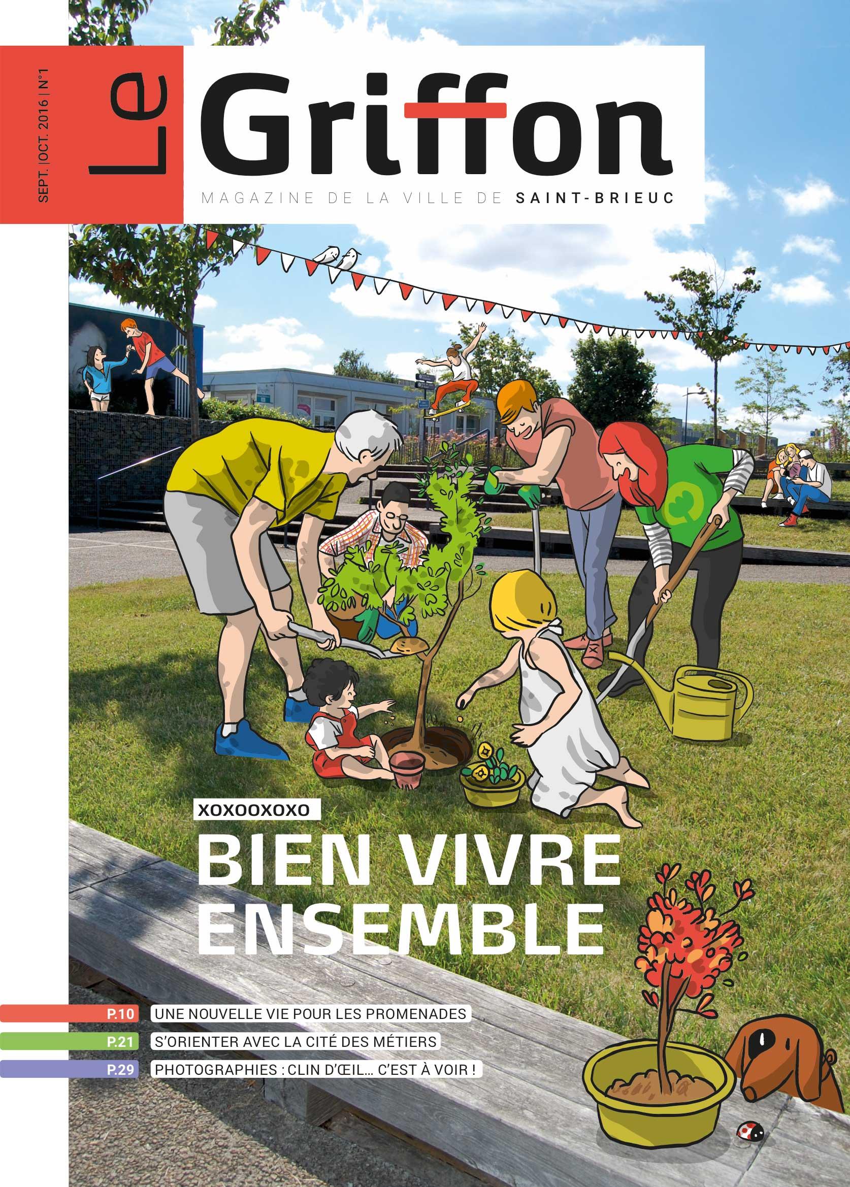 Ville de Saint-Brieuc Magazine Le Griffon — illustration de la une
