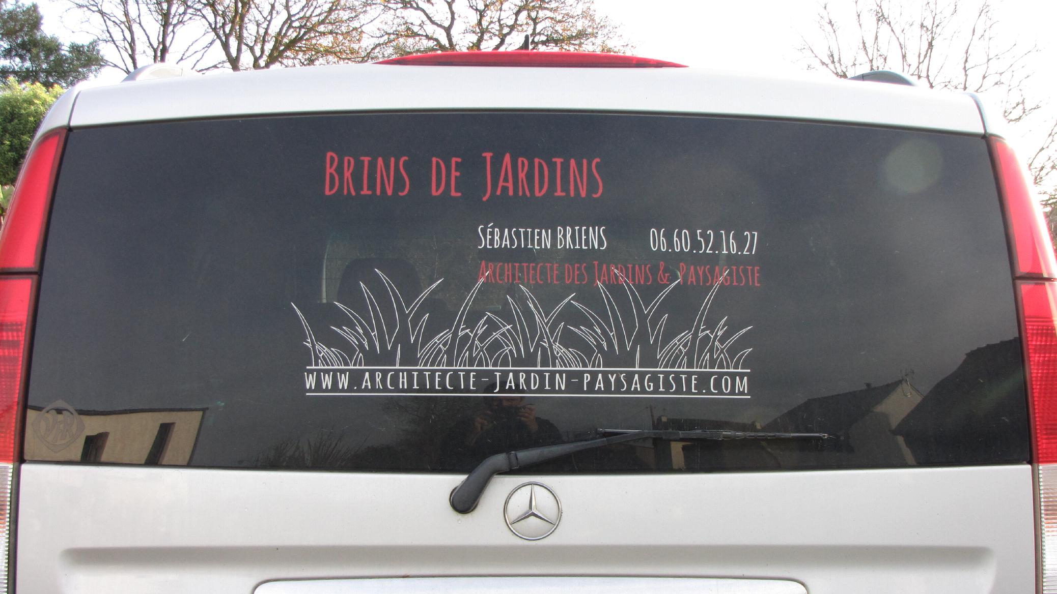 Briens Architecte Paysagiste Identite Visuelle Logotype Signaletique Vehicule Ancien