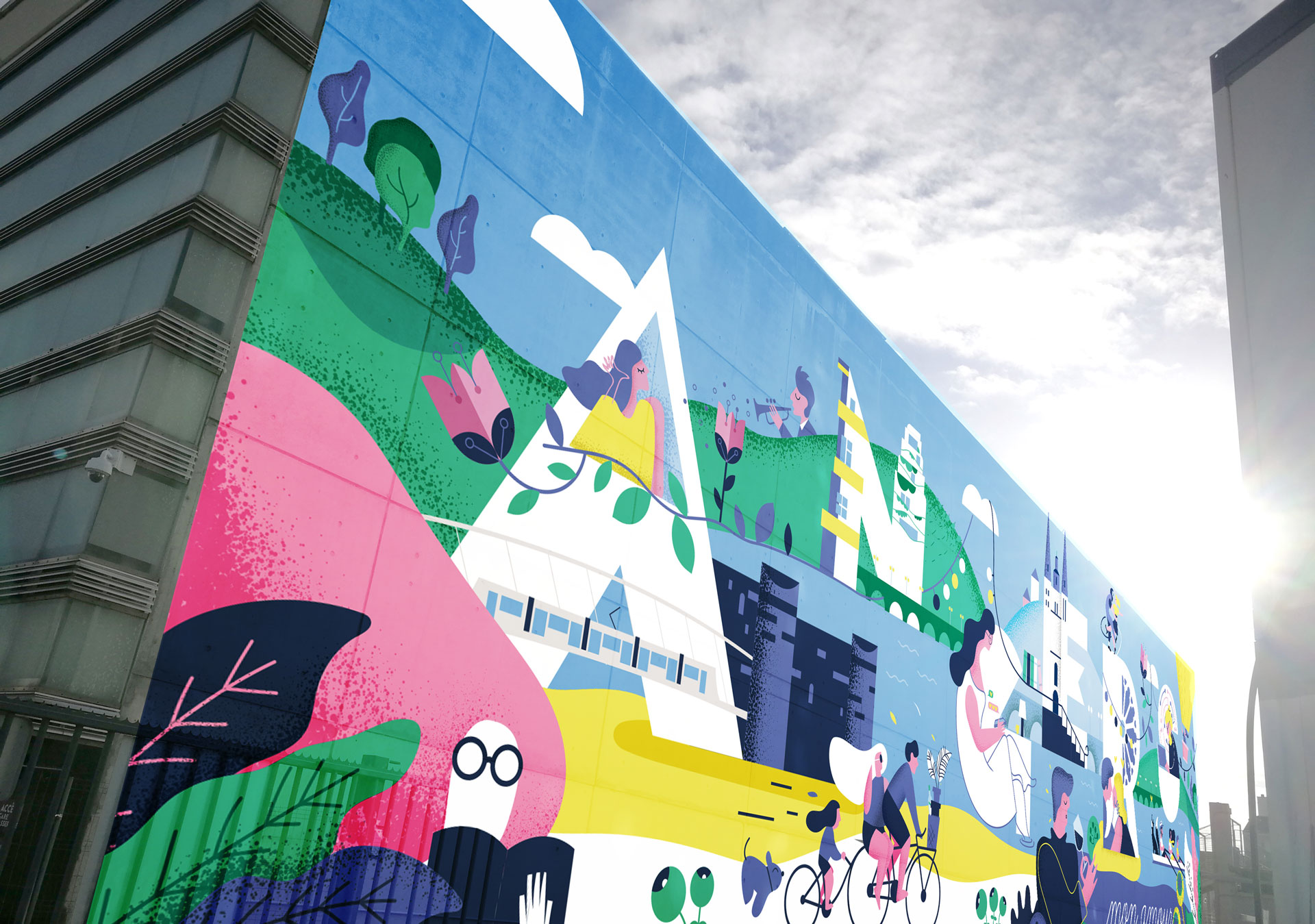 Angers Loire Metropole Fresque Cours Stlaud