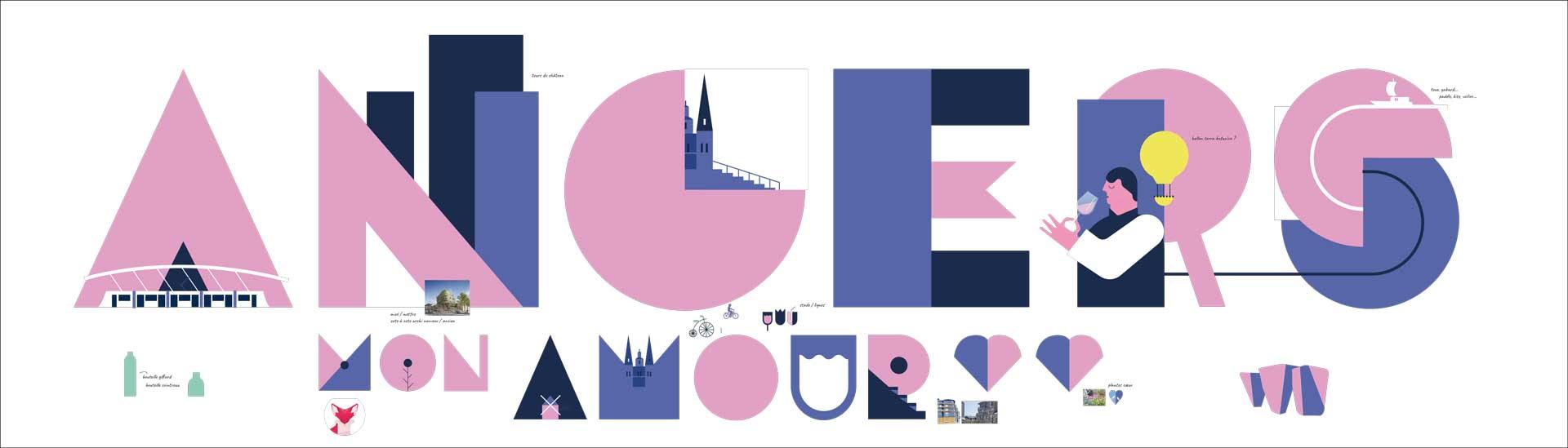 Angers Loire Metropole Fresque Esquisse