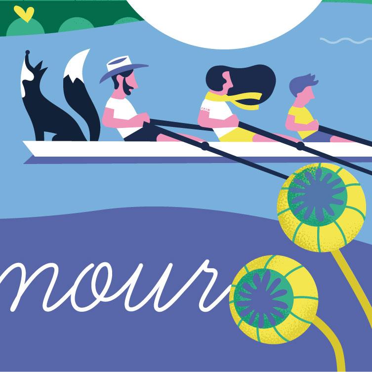 Angers Loire Metropole Fresque Illustration Activite Sportive