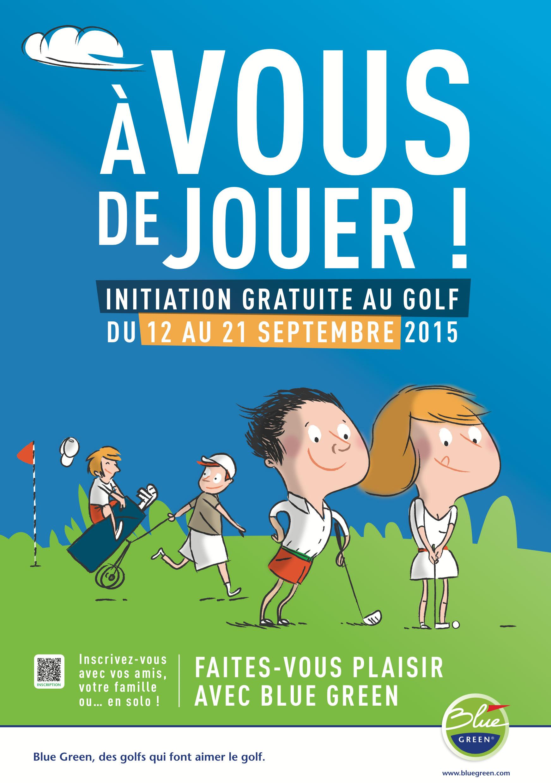 Bluegreen Golf Affiche Illustration