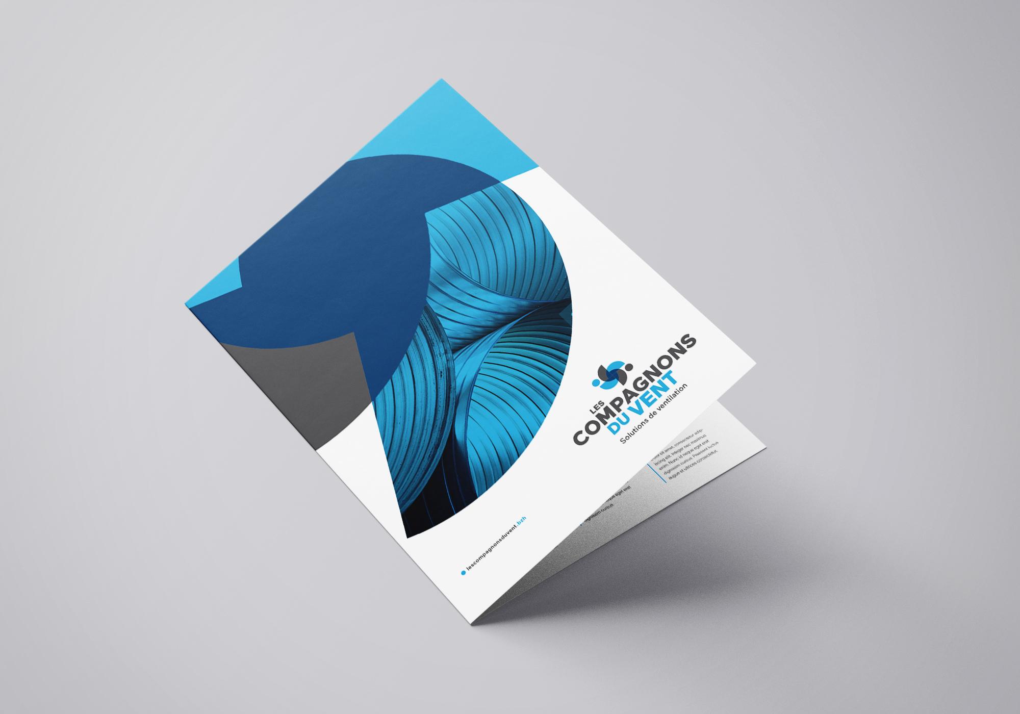 Compagnons Du Vent Identite Visuelle Logotype Plaquette Entreprise