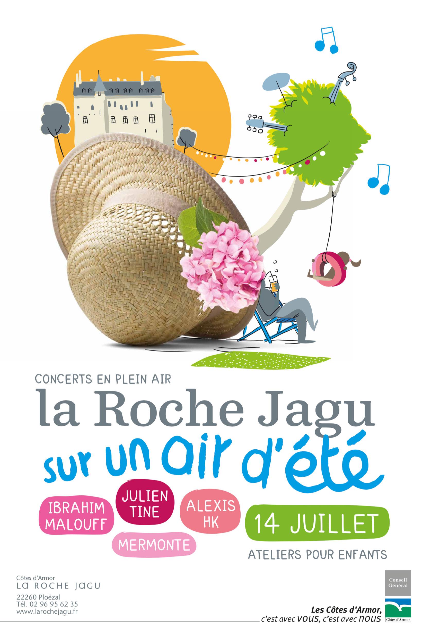 Conseil Departemental Cotes Armor Affiche Roche Jagu Concert