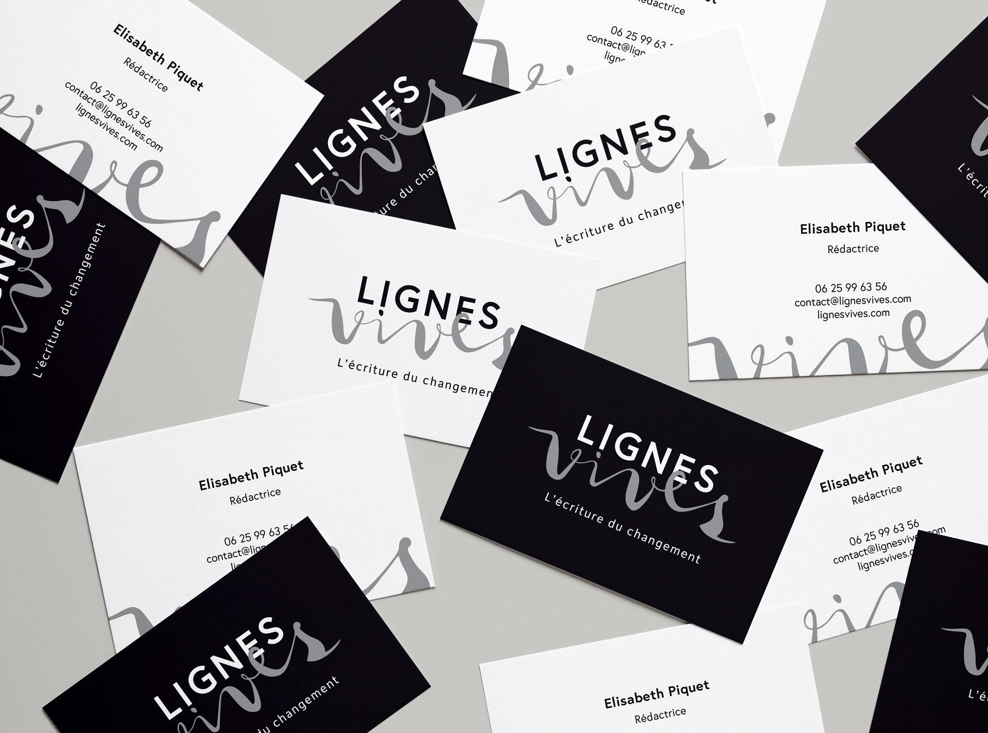 Lignes Vives Identite Visuelle Carte Visite