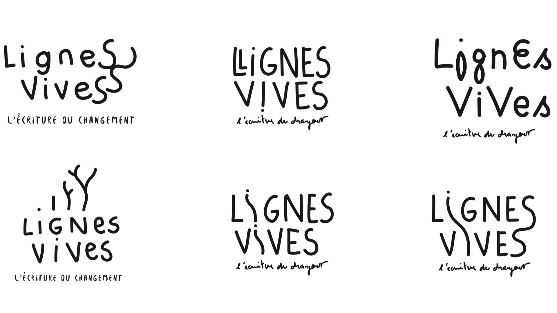 Lignes Vives Identite Visuelle Logo Esquisse