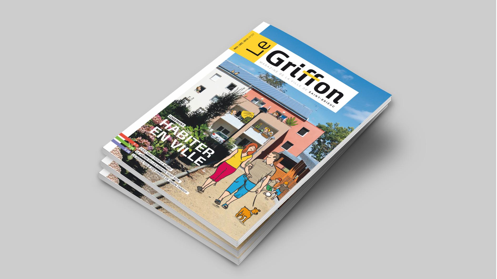 Ville de Saint-Brieuc Magazine Le Griffon — illustration