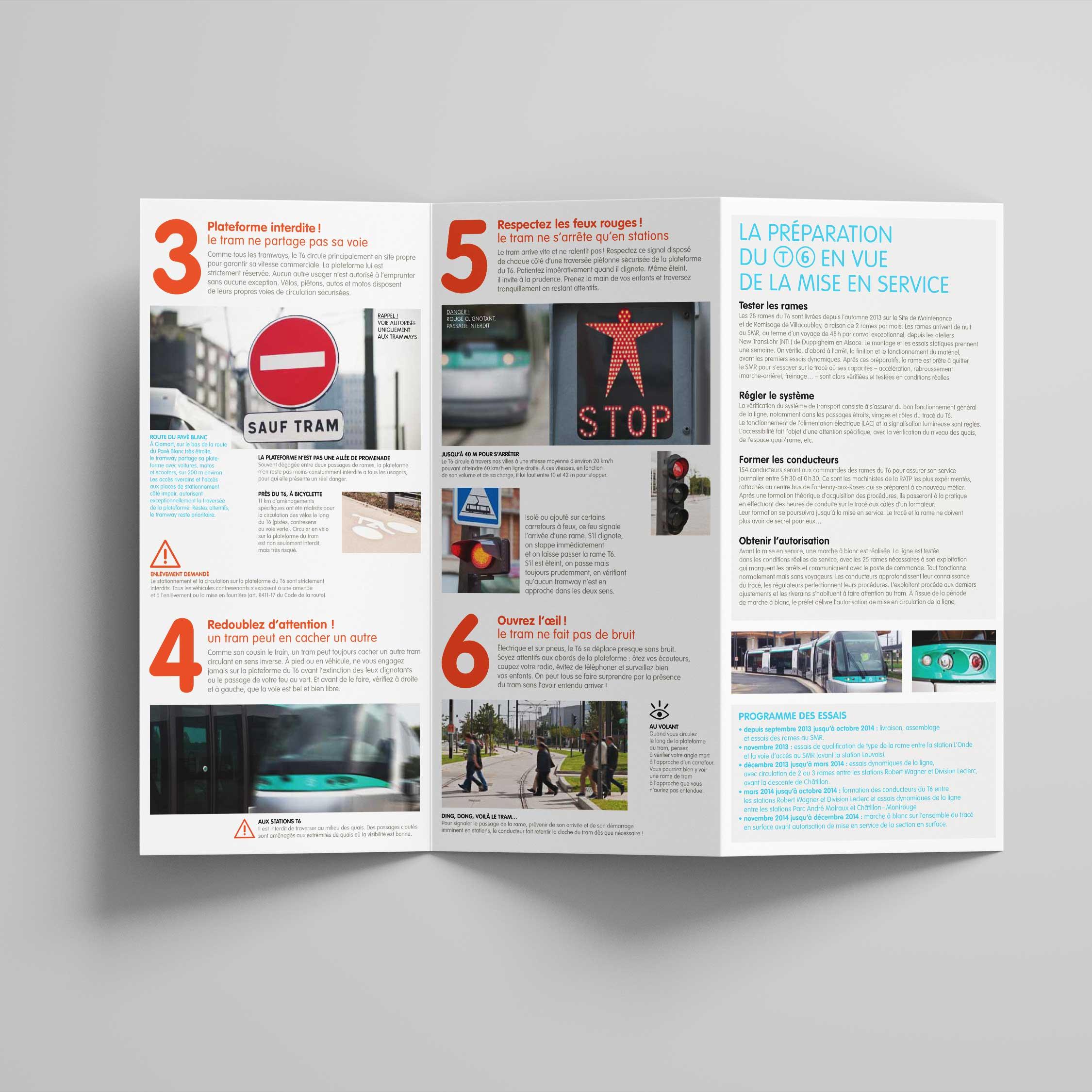 Ratp Tramway Deplacement Code Securite Ville Brochure Information