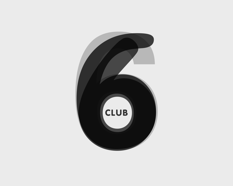 Identite Visuelle Club6 Portefolio Logo Arnaud Chauvel Graphiste