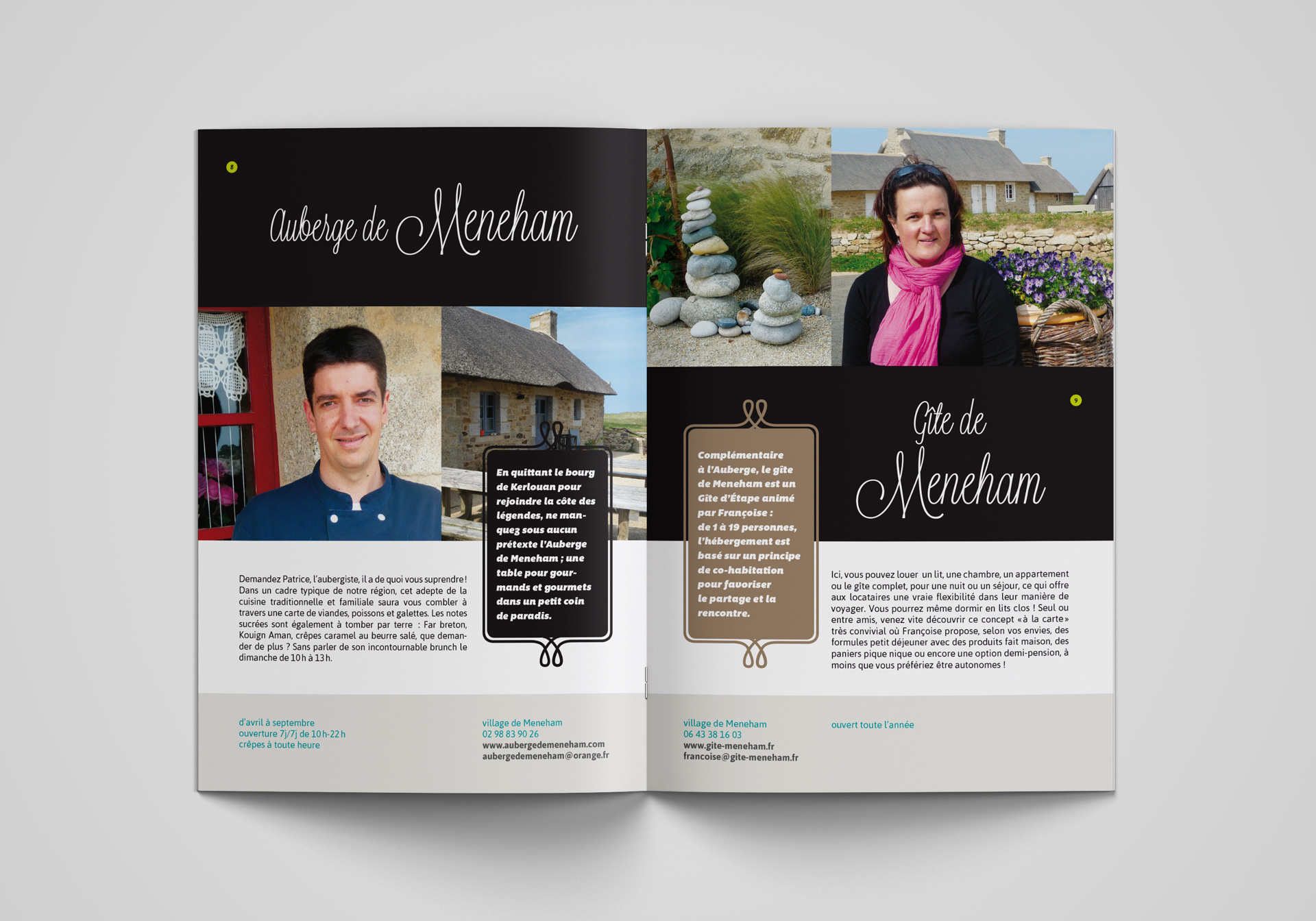 Association Commercants Kerlouan Guide Shopping Brochure Double Page