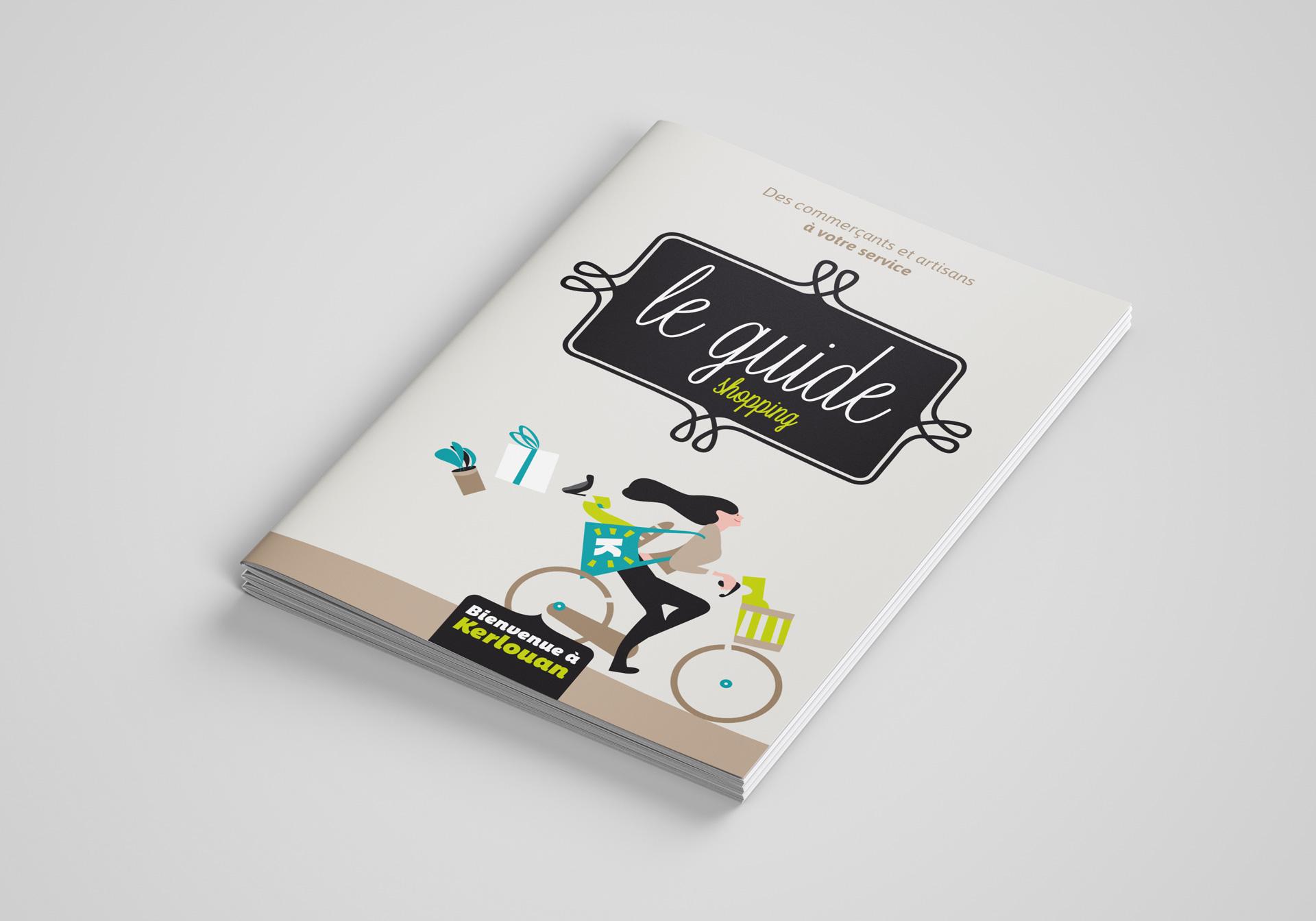 Association Commercants Kerlouan Guide Shopping Brochure