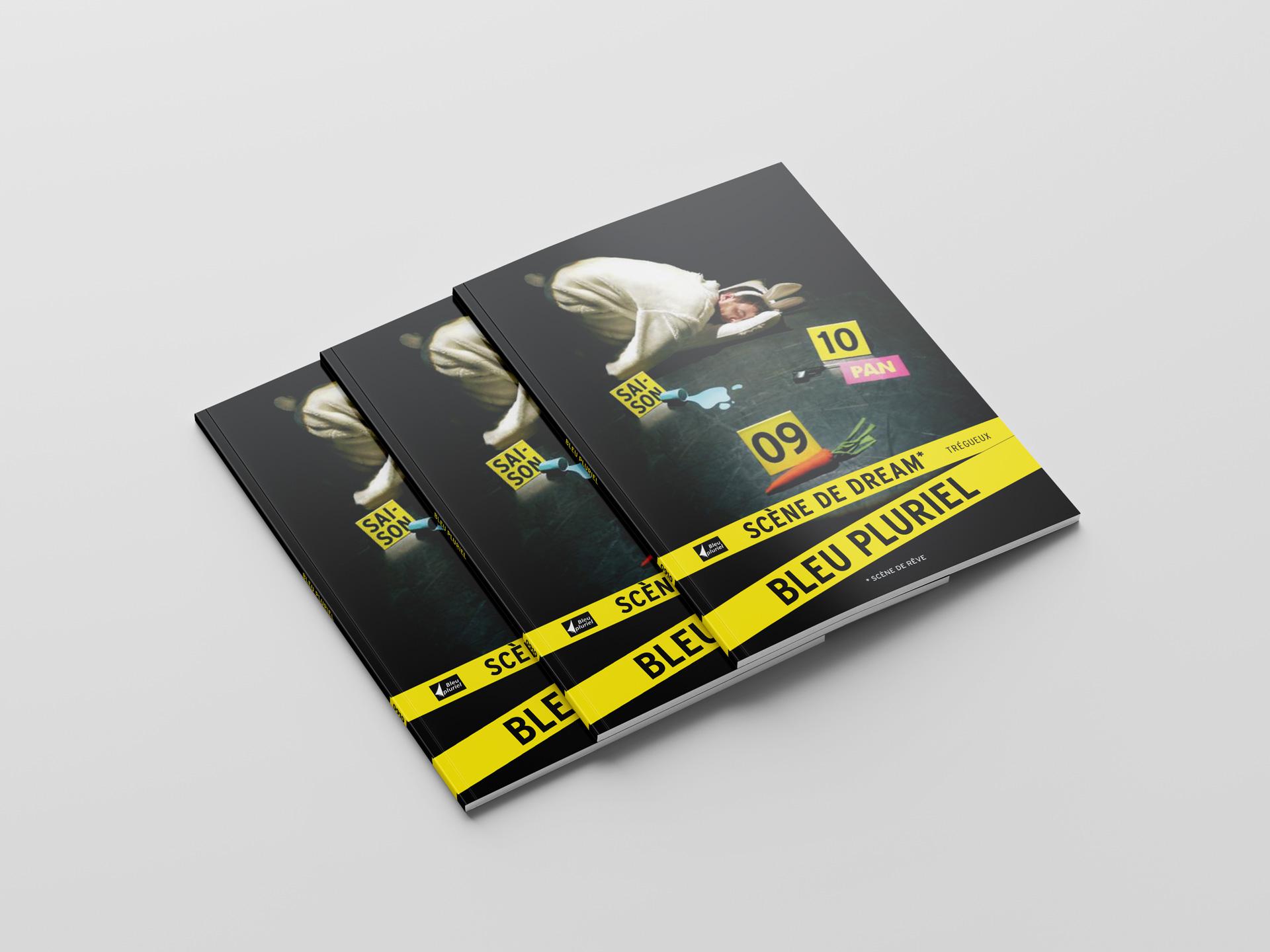 Bleu Pluriel Culturel Programme Spectacle Saison Brochure Couverture