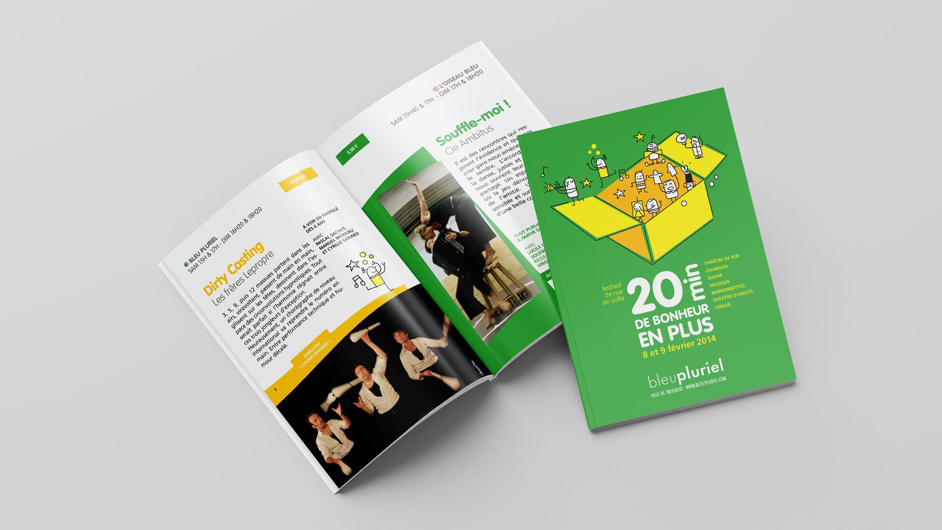 Bleu Pluriel Festival Programme Spectacle 20mn Brochure Couverture