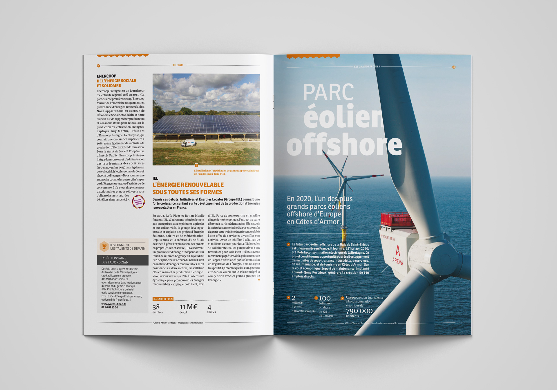 CD22 Design Editorial Brochure Economique Double Page 1