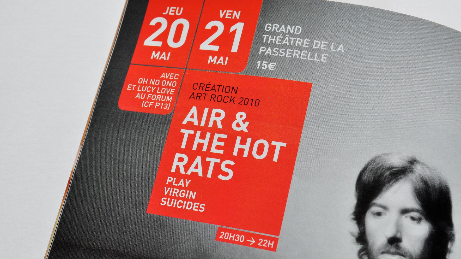 Festival Art Rock Design Editorial Programme Air