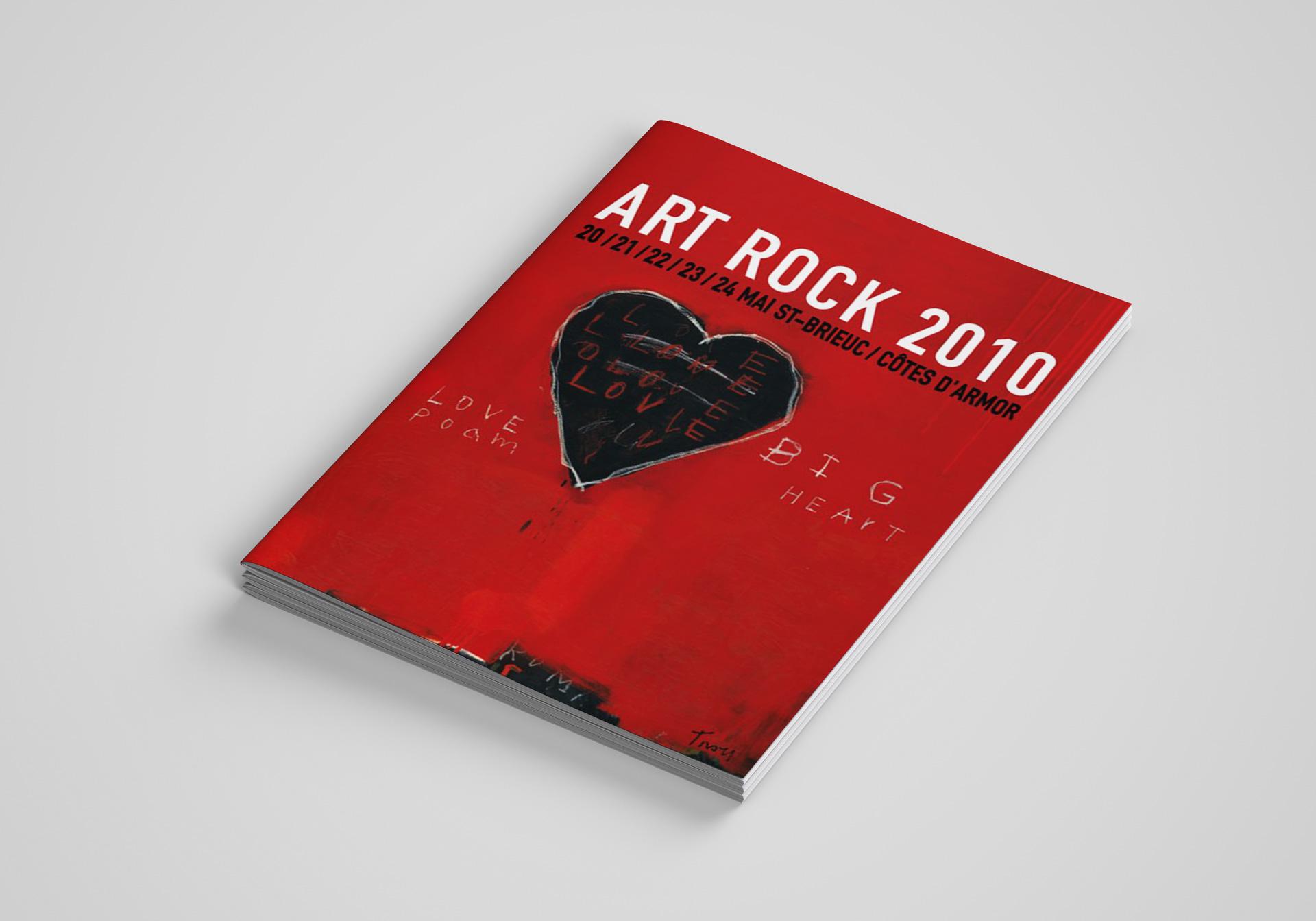 Festival Art Rock Design Editorial Programme Couverture Bis