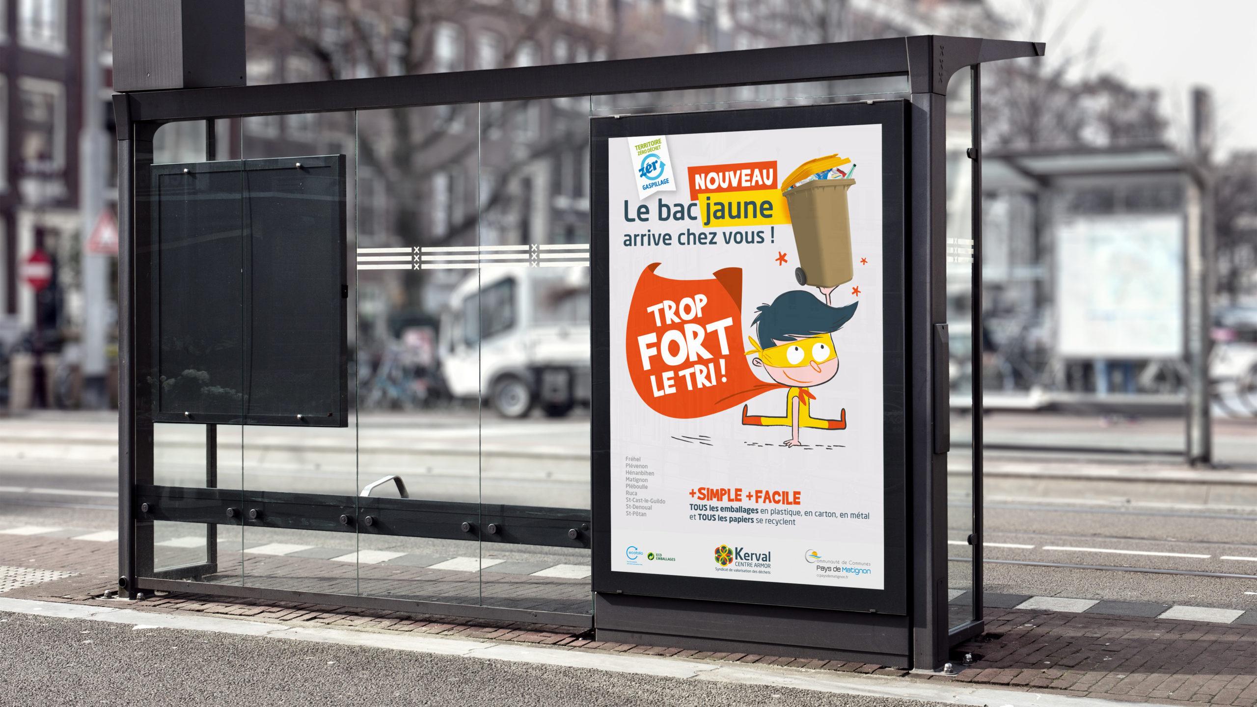 Kerval-Affiche-tropfort-le-tri-selectif-recyclage-communication