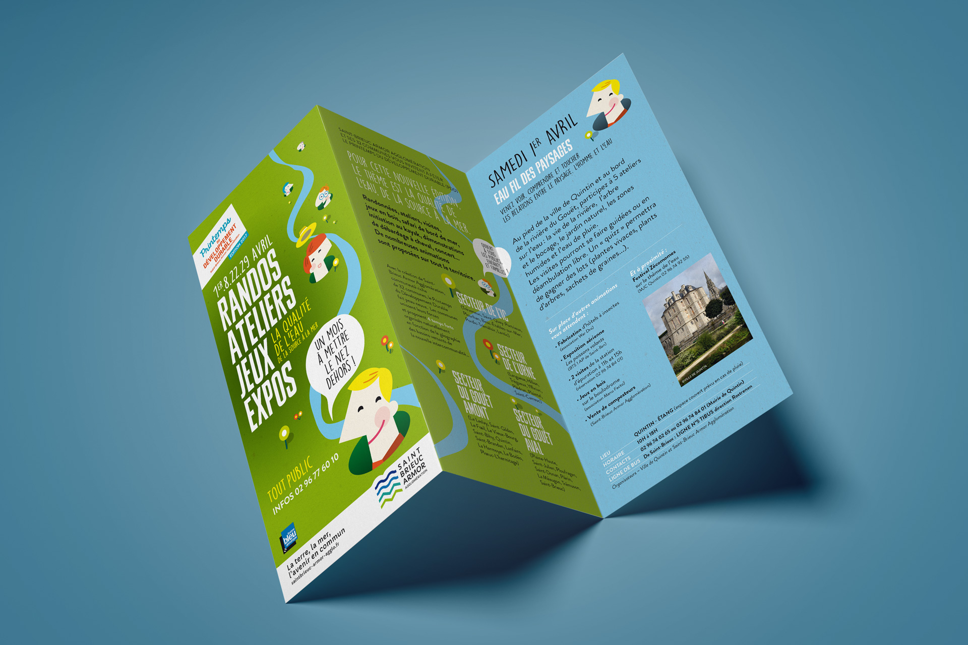 Saint Brieuc Agglomeration Printemps Developpement Durable Fete Nature Programme Depliant