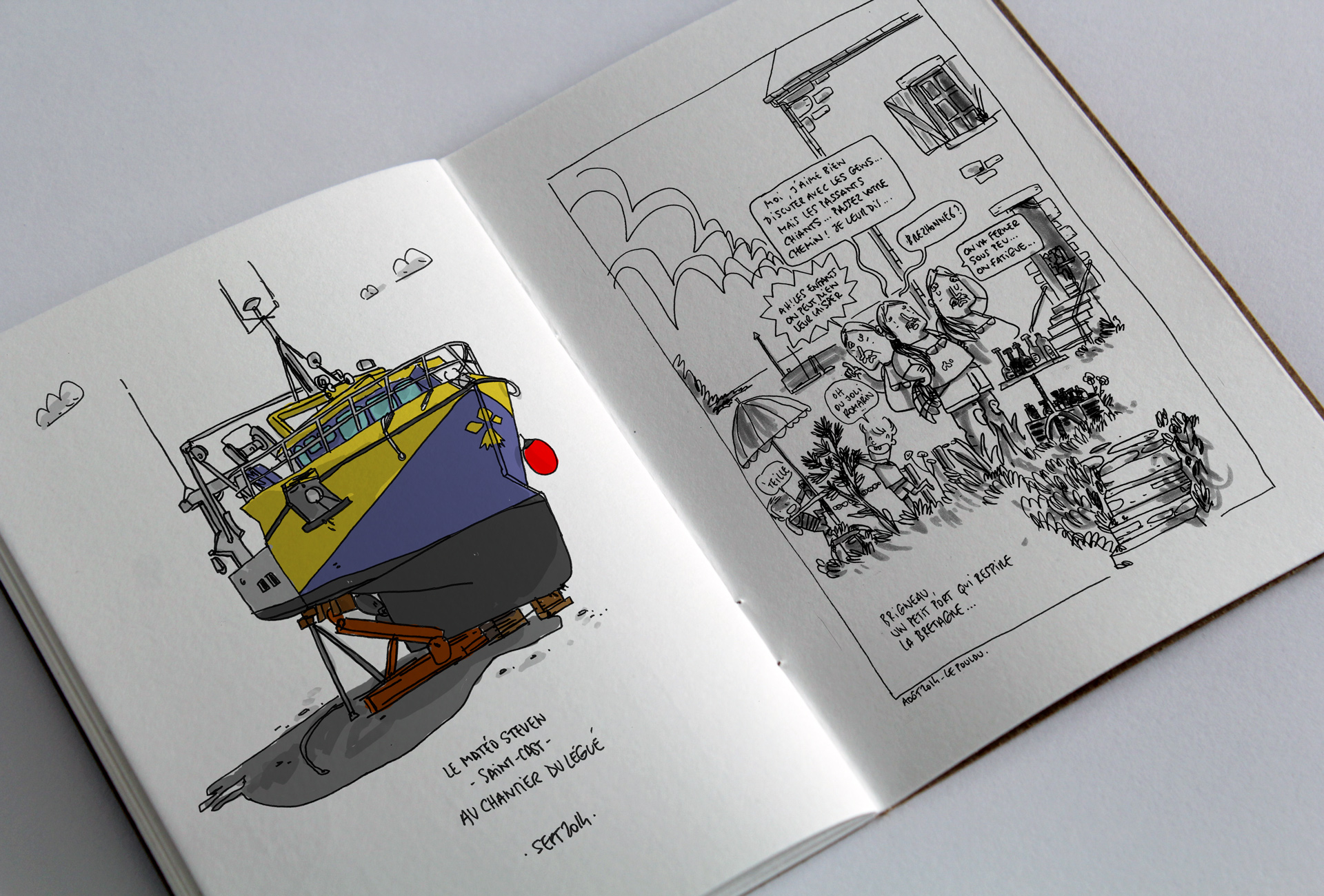 Carnet Croquis Bretagne Voyage Sketchbook