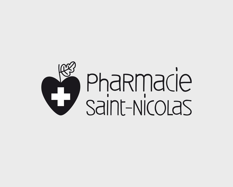 Identite Visuelle Pharmacie Officine Saintnicolas Portefolio Logo Arnaud Chauvel Graphiste