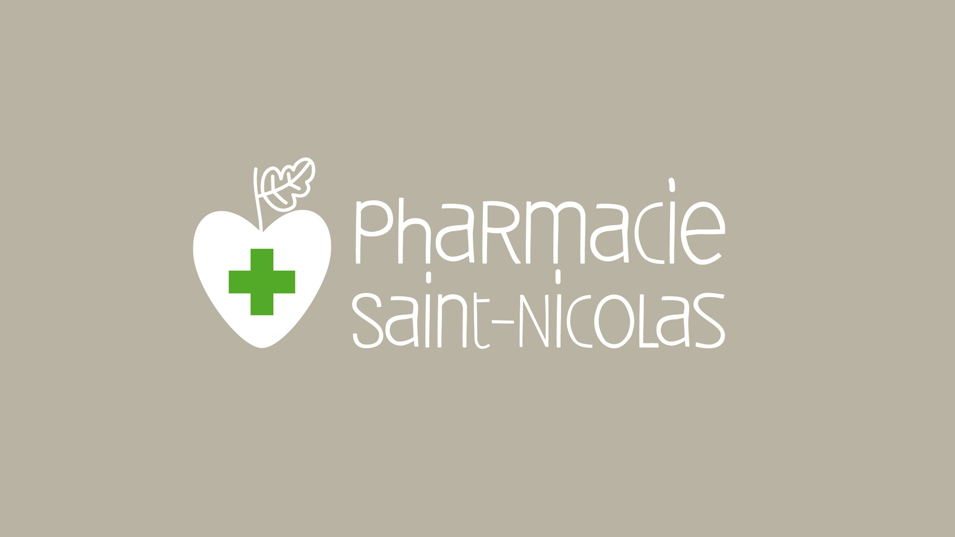 Pharmacie Saint Nicolas Identite Visuelle Signaletique Logotype