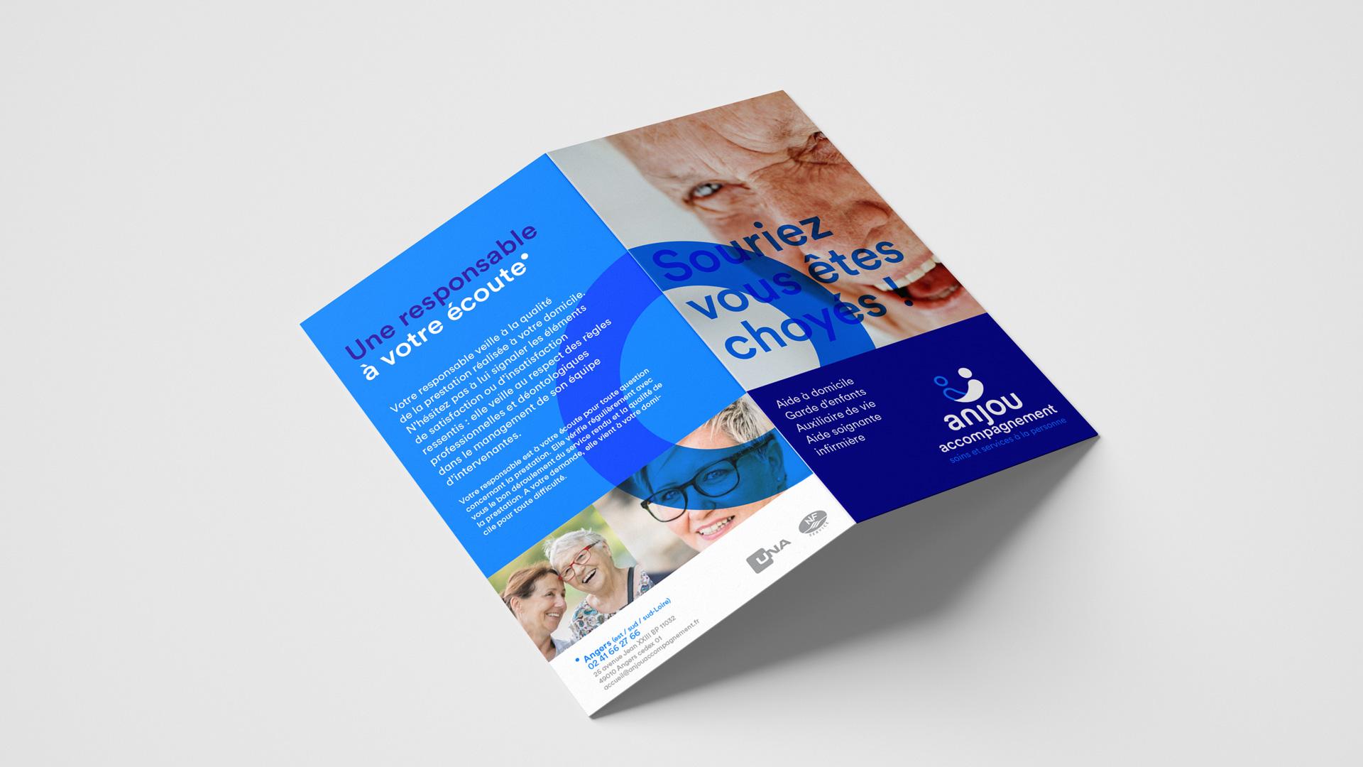 Anjou Accompagnement Association Identite Visuelle Brochure Charte Graphique 1