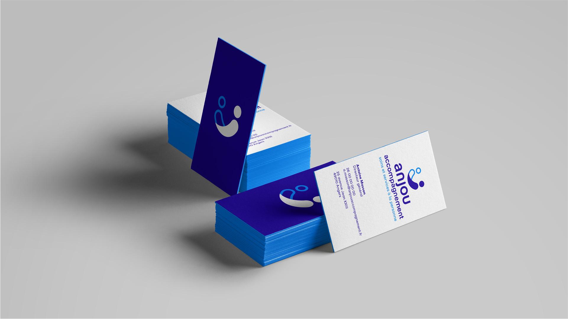 Anjou Accompagnement Association Identite Visuelle Carte Visite Papeterie Charte Graphique