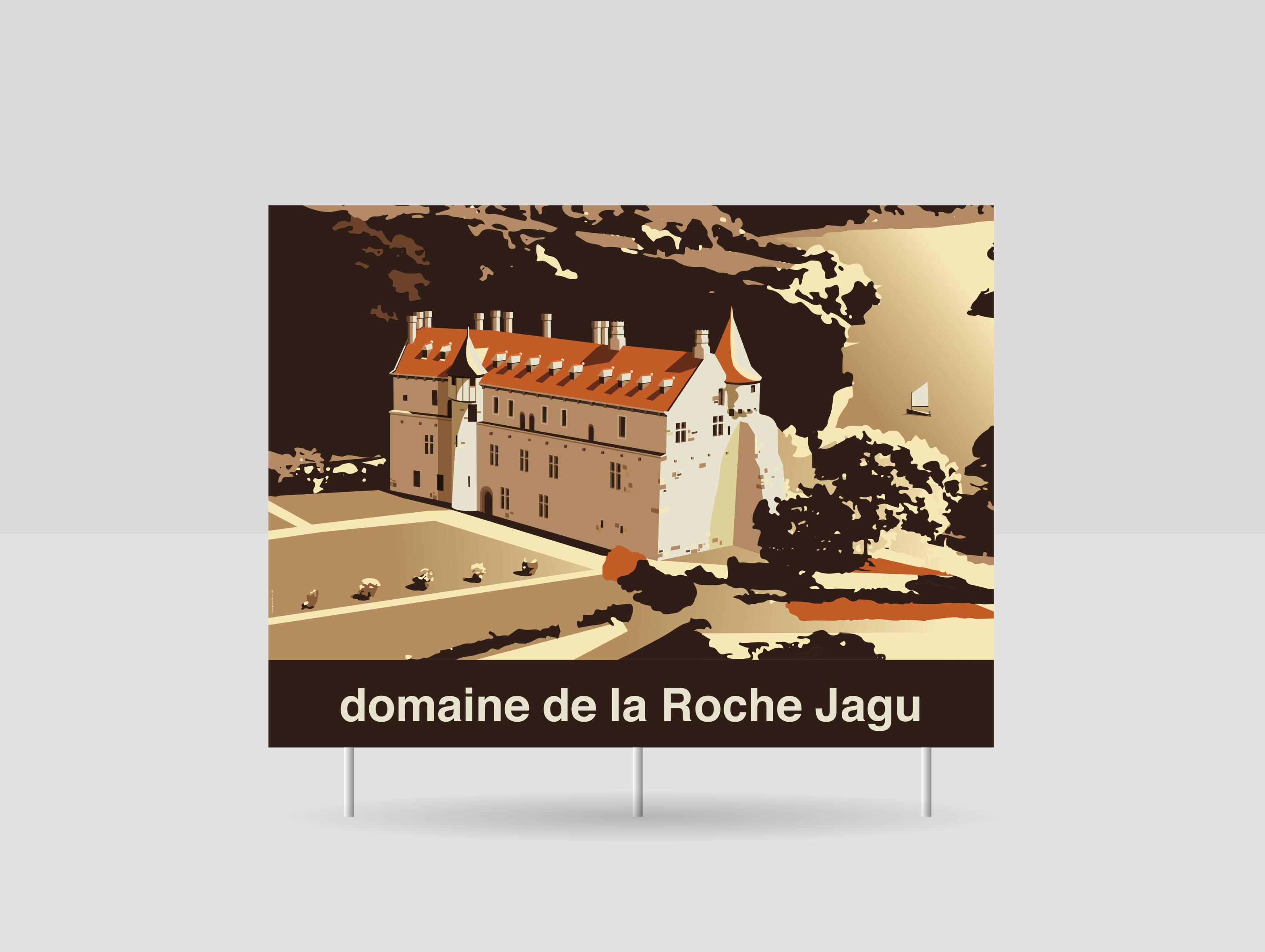 Conseil départemental des côtes d'armor Panneaux touristiques — illustration